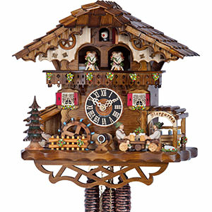 Chalet Cuckoo Clocks Cuckoo Clock 1-day-movement Chalet-Style 32cm by Hönes