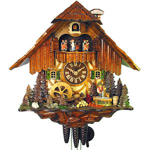 Chalet Cuckoo Clocks Cuckoo Clock 1-day-movement Chalet-Style 36cm by August Schwer