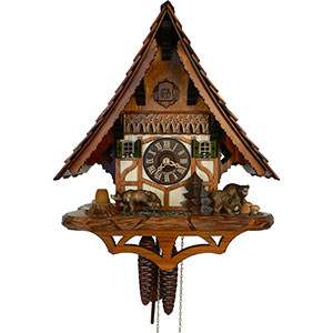 Chalet Cuckoo Clocks Cuckoo Clock 1-day-movement Chalet-Style 38cm by Anton Schneider