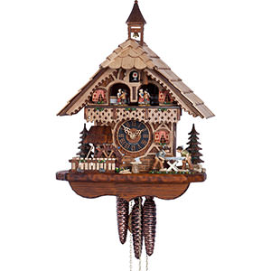 Chalet Cuckoo Clocks Cuckoo Clock 1-day-movement Chalet-Style 39cm by Hönes
