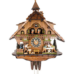 Chalet Cuckoo Clocks Cuckoo Clock 1-day-movement Chalet-Style 46cm by Hönes