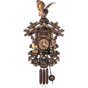 Carved Cuckoo Clocks Cuckoo Clock 8-day-movement Carved-Style 105cm by Hubert Herr