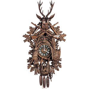 Carved Cuckoo Clocks Cuckoo Clock 8-day-movement Carved-Style 140cm by Hubert Herr