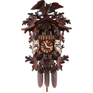Carved Cuckoo Clocks Cuckoo Clock 8-day-movement Carved-Style 52cm by Hubert Herr