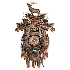 Carved Cuckoo Clocks Cuckoo Clock 8-day-movement Carved-Style 60cm by Hekas
