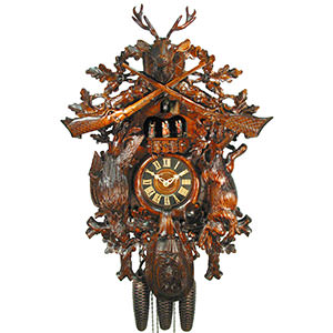 Carved Cuckoo Clocks Cuckoo Clock 8-day-movement Carved-Style 67cm by August Schwer