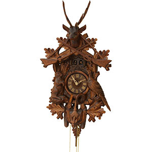 Carved Cuckoo Clocks Cuckoo Clock 8-day-movement Carved-Style 80cm by Rombach & Haas