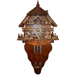 Chalet Cuckoo Clocks Cuckoo Clock 8-day-movement Chalet-Style 160cm by August Schwer