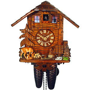 Chalet Cuckoo Clocks Cuckoo Clock 8-day-movement Chalet-Style 28cm by August Schwer