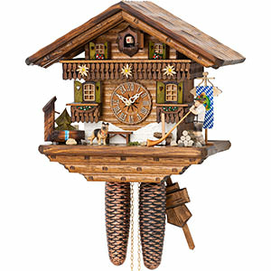 Chalet Cuckoo Clocks Cuckoo Clock 8-day-movement Chalet-Style 29cm by Hekas