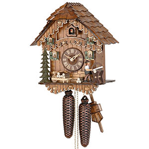 Chalet Cuckoo Clocks Cuckoo Clock 8-day-movement Chalet-Style 30cm by Hekas