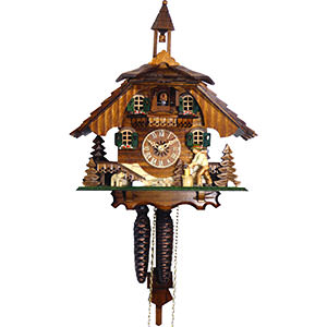 Chalet Cuckoo Clocks Cuckoo Clock 8-day-movement Chalet-Style 31cm by Engstler