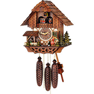 Chalet Cuckoo Clocks Cuckoo Clock 8-day-movement Chalet-Style 32cm by Hubert Herr