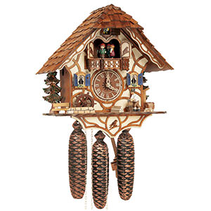 Chalet Cuckoo Clocks Cuckoo Clock 8-day-movement Chalet-Style 34cm by Anton Schneider