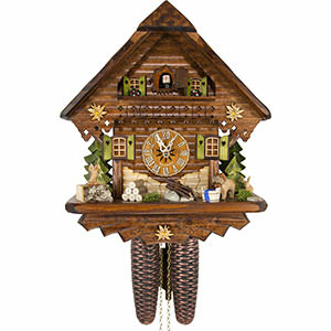 Chalet Cuckoo Clocks Cuckoo Clock 8-day-movement Chalet-Style 34cm by Cuckoo-Palace