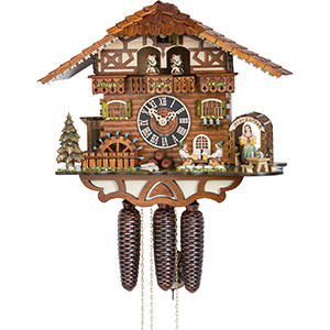 Chalet Cuckoo Clocks Cuckoo Clock 8-day-movement Chalet-Style 36cm by Hönes