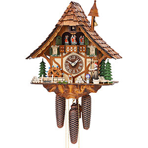 Chalet Cuckoo Clocks Cuckoo Clock 8-day-movement Chalet-Style 40cm by Hekas