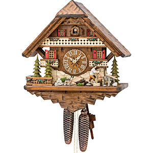 Chalet Cuckoo Clocks Cuckoo Clock 8-day-movement Chalet-Style 42cm by Hekas