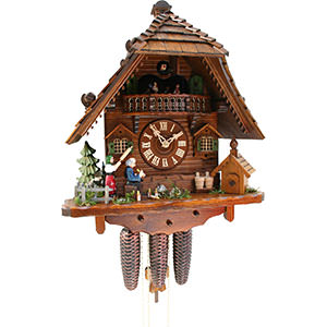 Chalet Cuckoo Clocks Cuckoo Clock 8-day-movement Chalet-Style 43cm by Rombach & Haas