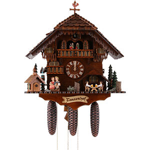 Chalet Cuckoo Clocks Cuckoo Clock 8-day-movement Chalet-Style 51cm by Anton Schneider