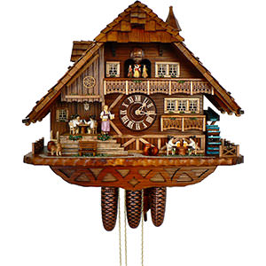 Chalet Cuckoo Clocks Cuckoo Clock 8-day-movement Chalet-Style 52cm by Anton Schneider