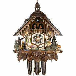 Chalet Cuckoo Clocks Cuckoo Clock 8-day-movement Chalet-Style 54cm by Hönes