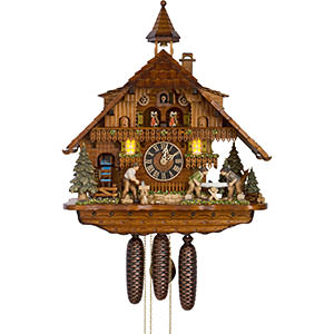 Chalet Cuckoo Clocks Cuckoo Clock 8-day-movement Chalet-Style 55cm by Hönes
