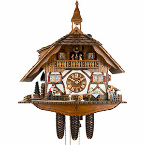 Chalet Cuckoo Clocks Cuckoo Clock 8-day-movement Chalet-Style 60cm by Anton Schneider