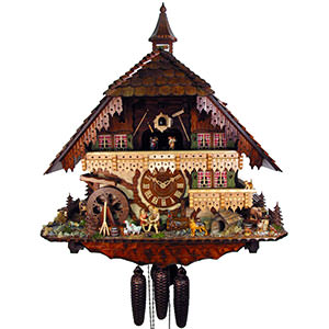 Chalet Cuckoo Clocks Cuckoo Clock 8-day-movement Chalet-Style 65cm by August Schwer