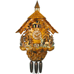 Chalet Cuckoo Clocks Cuckoo Clock 8-day-movement Chalet-Style 71cm by August Schwer