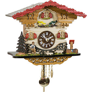 Black Forest Souvenir Clocks & Weather Houses Cuckoo Clock Quartz-movement Black Forest Pendulum Clock-Style 20cm by Trenkle Uhren