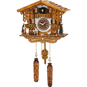 Chalet Cuckoo Clocks Cuckoo Clock Quartz-movement Chalet-Style 28cm by Trenkle Uhren
