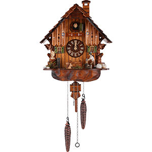 Chalet Cuckoo Clocks Cuckoo Clock Quartz-movement Chalet-Style 30cm by Anton Schneider