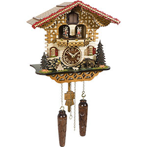 Chalet Cuckoo Clocks Cuckoo Clock Quartz-movement Chalet-Style 30cm by Trenkle Uhren