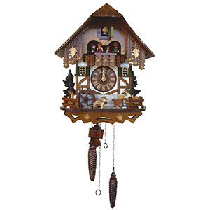 Chalet Cuckoo Clocks Cuckoo Clock Quartz-movement Chalet-Style 33cm by Anton Schneider
