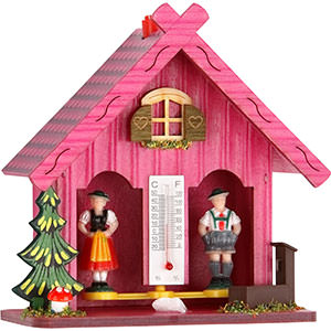Black Forest Souvenir Clocks & Weather Houses Weather house 14cm by Trenkle Uhren
