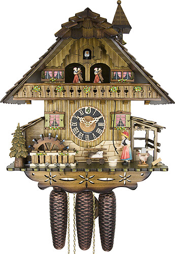 Cuckoo-palace.com Cuckoo Clock 8-day-movement Chalet-Style 42cm by H