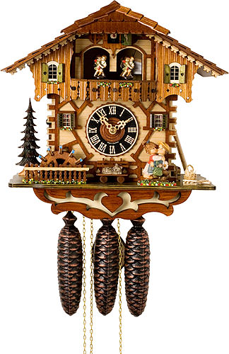 Cuckoo Clock 8-day-movement Chalet-Style 34cm by H