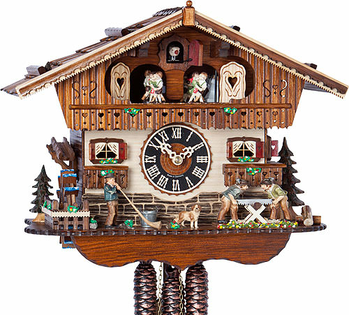 Cuckoo Clock 1-day-movement Chalet-Style 29cm by H