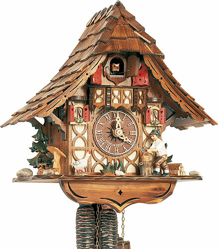 Image For Cuckoo Clock 1-day-movement Chalet-Style 27cm by Anton Schneider