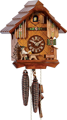 Image For Cuckoo Clock 1-day-movement Chalet-Style 22cm by Anton Schneider