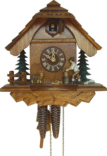 Image For Cuckoo Clock 1-day-movement Chalet-Style 25cm by Anton Schneider