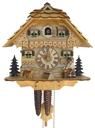 Image For Cuckoo Clock 1-day-movement Chalet-Style 26cm by Anton Schneider