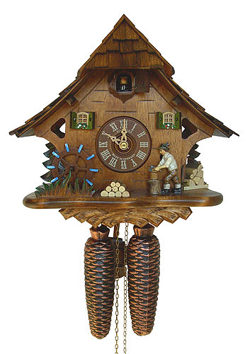 Image For Cuckoo Clock 8-day-movement Chalet-Style 27cm by Anton Schneider