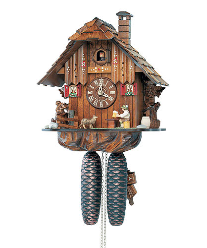 Image For Cuckoo Clock 8-day-movement Chalet-Style 31cm by Anton Schneider