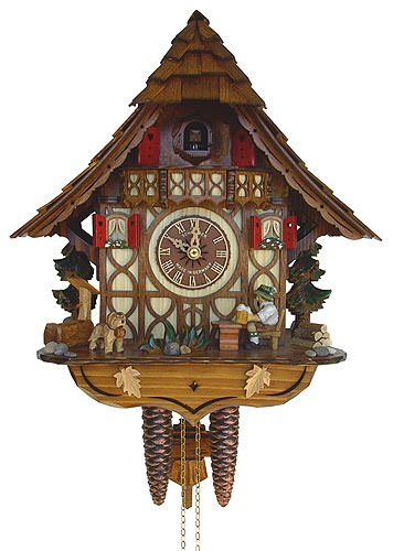 Image For Cuckoo Clock 8-day-movement Chalet-Style 32cm by Anton Schneider