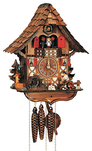Cuckoo-palace.com Cuckoo Clock 1-day-movement Chalet-Style 35cm by Anton Schneider