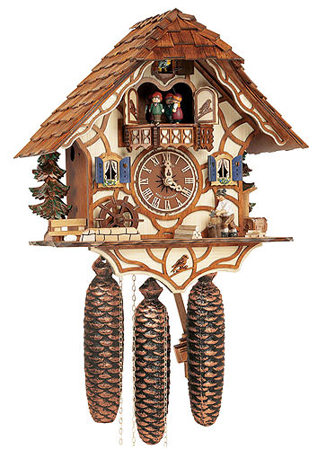 Image For Cuckoo Clock 8-day-movement Chalet-Style 34cm by Anton Schneider