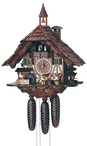 Image For Cuckoo Clock 8-day-movement Chalet-Style 48cm by Anton Schneider