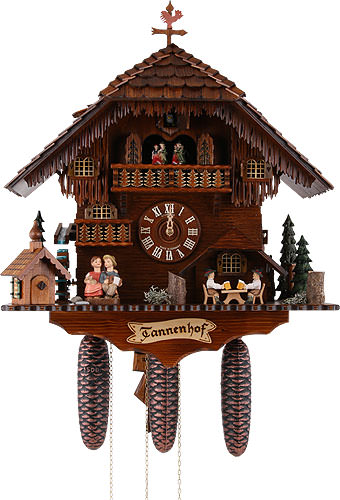 Image For Cuckoo Clock 8-day-movement Chalet-Style 51cm by Anton Schneider